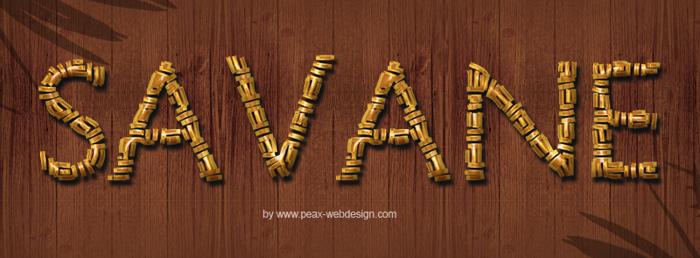 PWSavane Font poster
