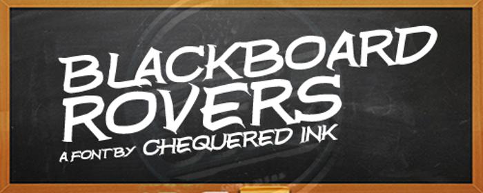 Blackboard Rovers Font poster