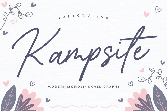 Kampsite Font poster