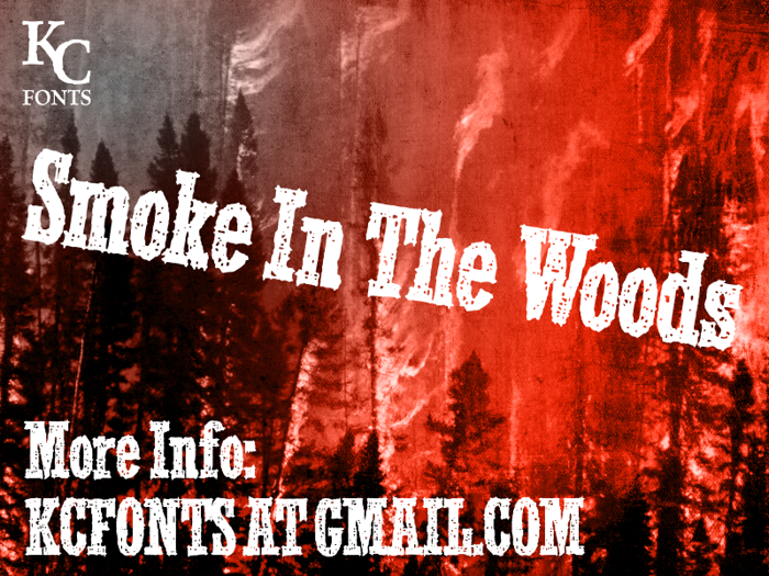Smoke In The Woods Font poster