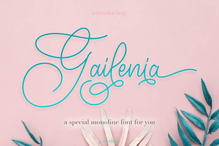 Gailenia Font poster