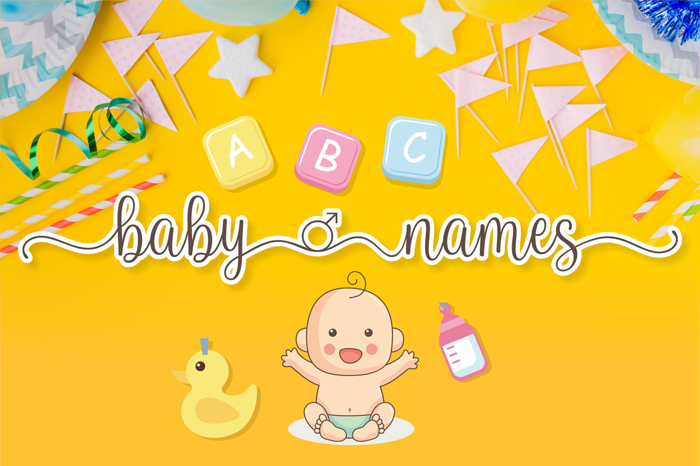 Baby Names Font poster