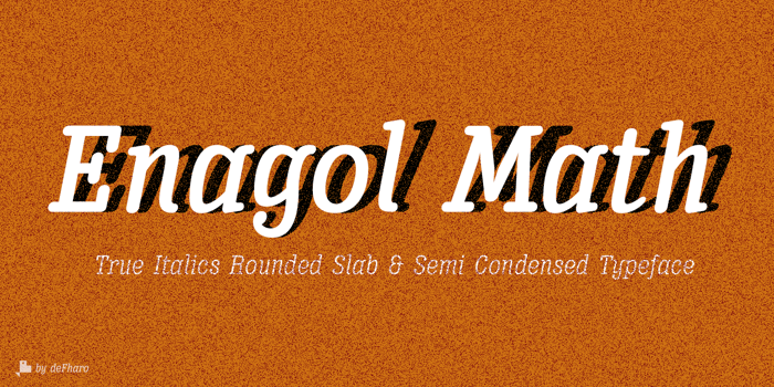Enagol Math Font poster