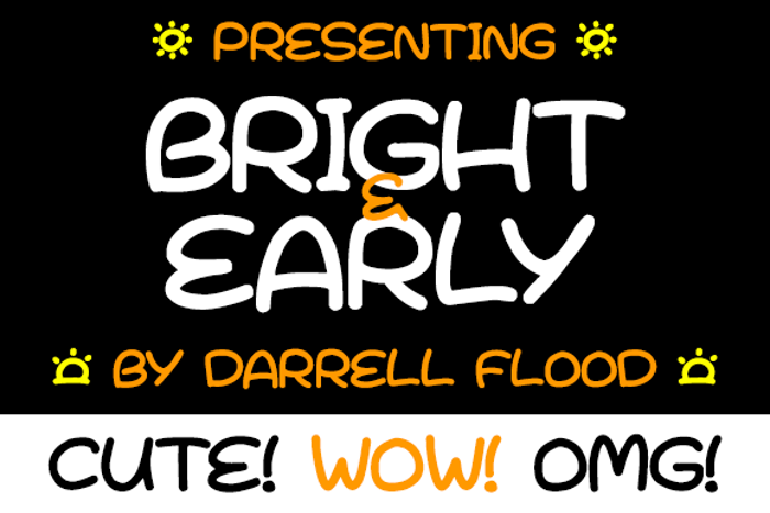 Bright & Early Font poster