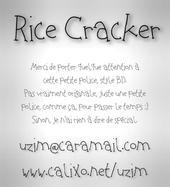 Rice Cracker Font poster