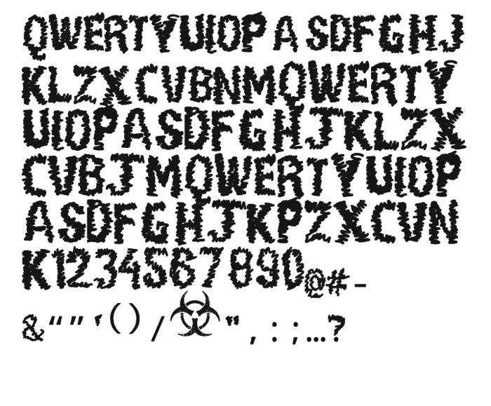 Paul Loving Font poster