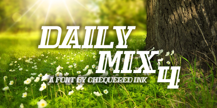 Daily Mix 4 Font poster