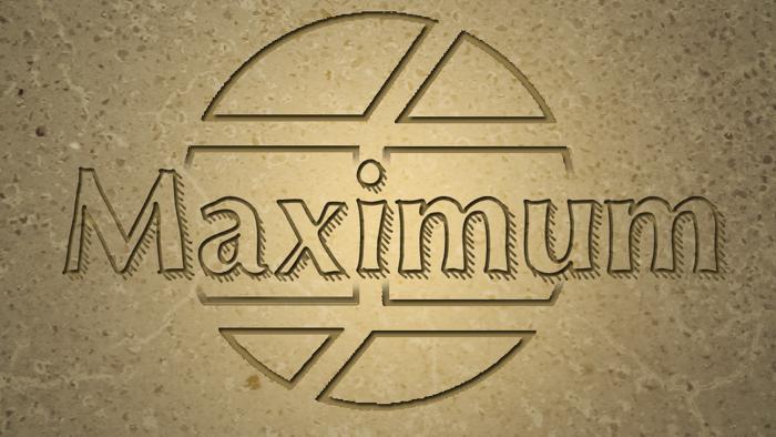 Maximum Font poster