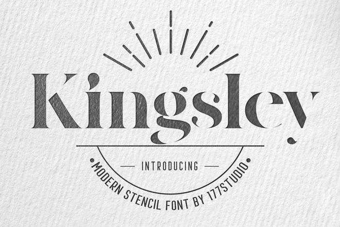 Kingsley Font poster