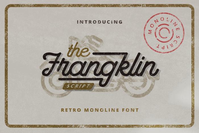 Frangklin Font poster