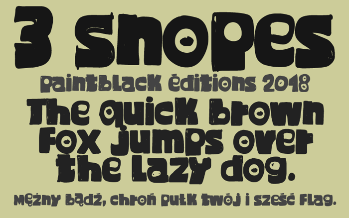 3 Snopes Font poster
