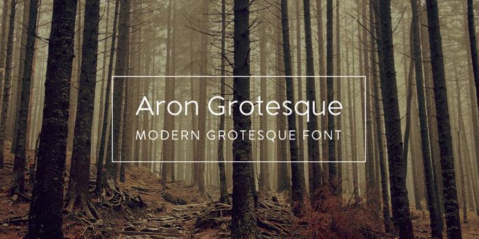 Aron Grotesque Font poster