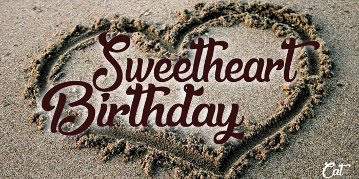 Sweetheart Birthday Font poster
