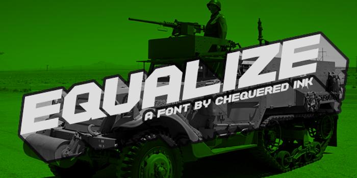 Equalize Font poster