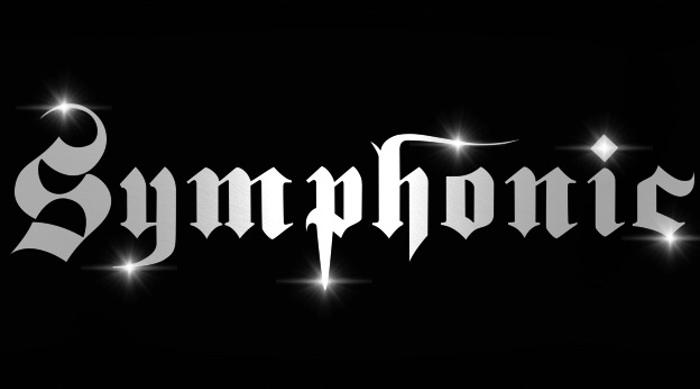 symphonic Font poster