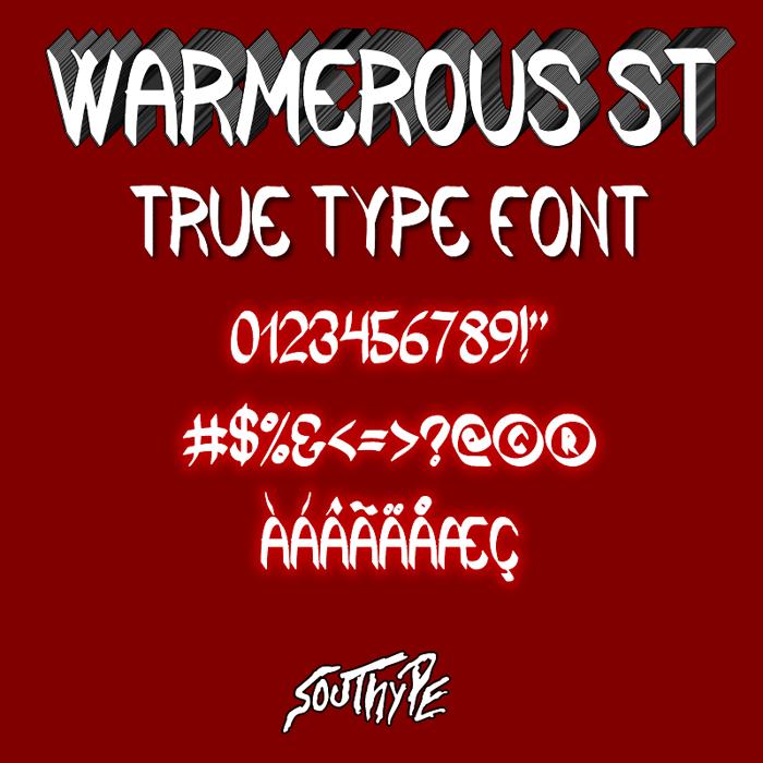 Warmerous St Font poster