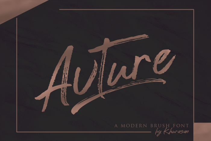 Avture Font poster