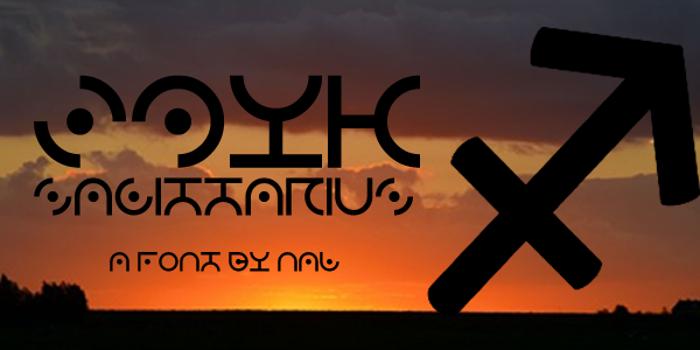 Zdyk Sagittarius Font poster