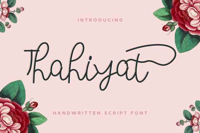 Thahiyat Font poster