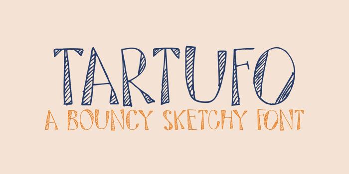 DK Tartufo Font poster