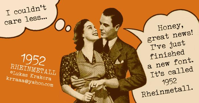1952 RHEINMETALL Font poster