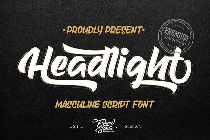 Headlight Font poster