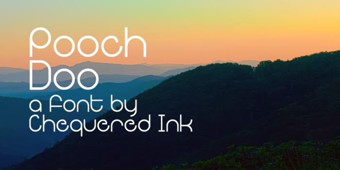 Pooch Doo Font poster