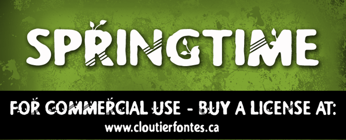CF Springtime Font poster