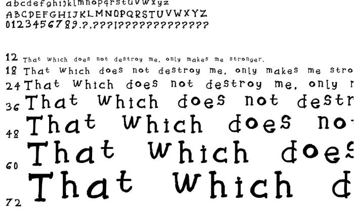 Tryhaaarrddd Font poster