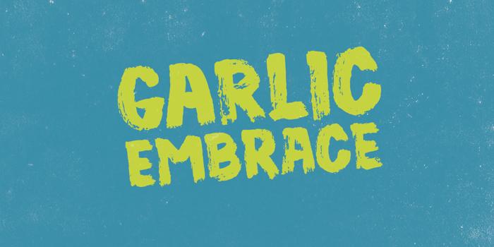 Garlic Embrace DEMO Font poster