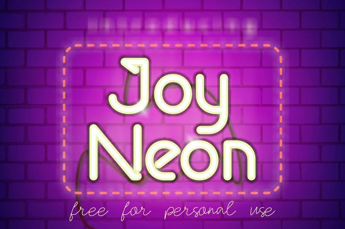 Joy Neon Font poster
