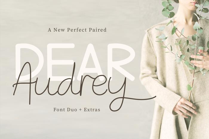 Dear Audrey Script Font poster