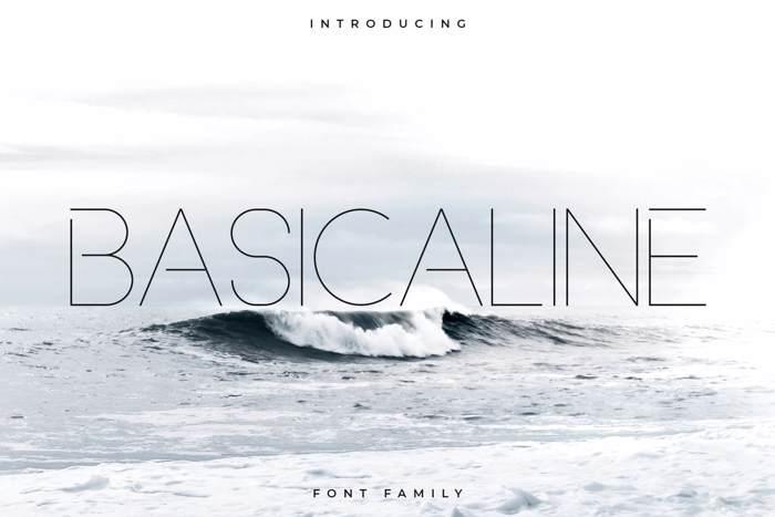 Basicaline Font poster