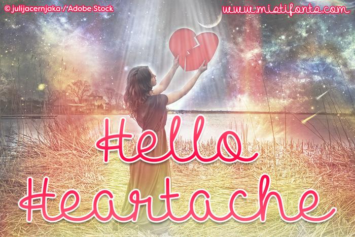 Hello Heartache Font poster