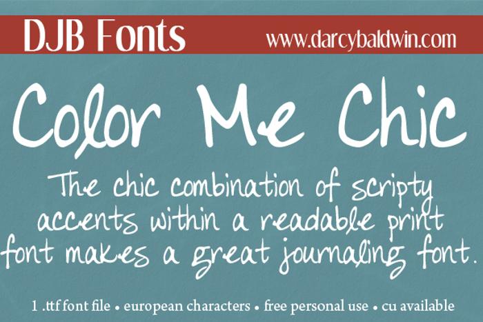 DJB Color Me Chic Font poster