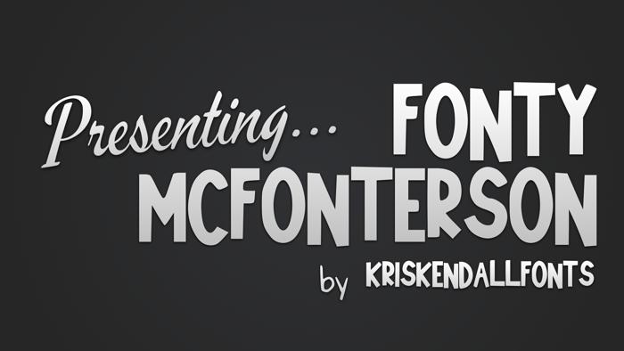 Fonty_McFonterson Font poster