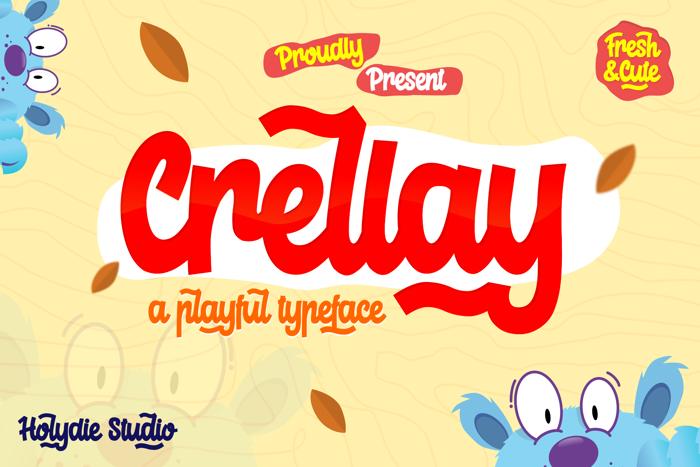 Crelay Font poster
