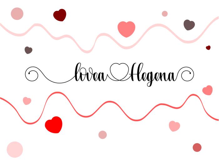 Lovea Hegena Font poster