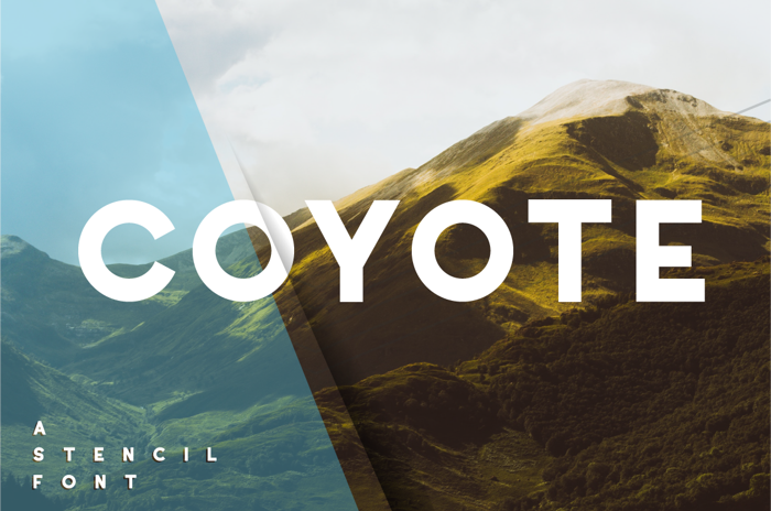 Coyote Font poster
