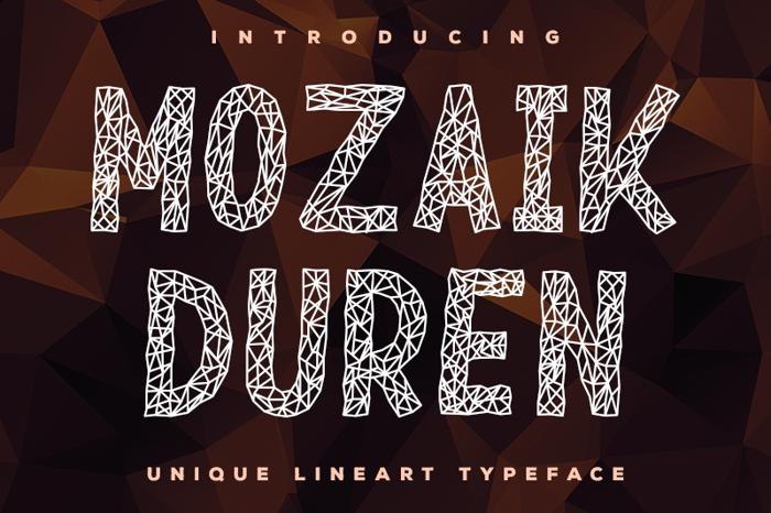 Mozaik Duren Font poster