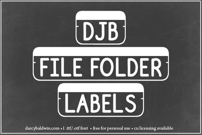 DJB File Folder Labels Font poster