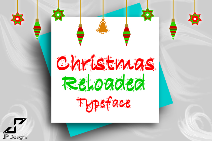Christmas Reloaded Font poster