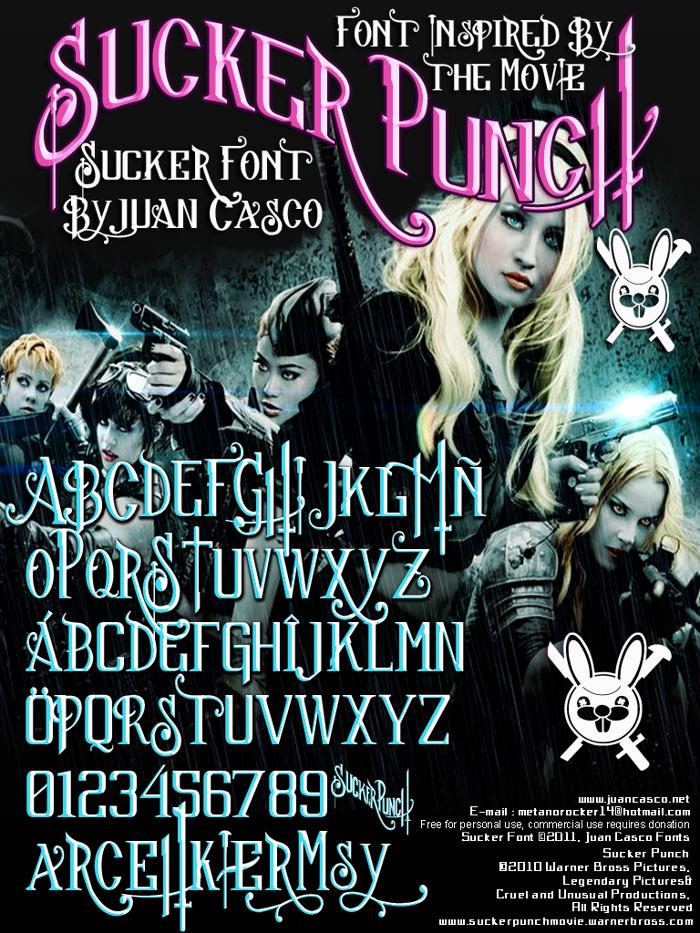 Sucker Font poster