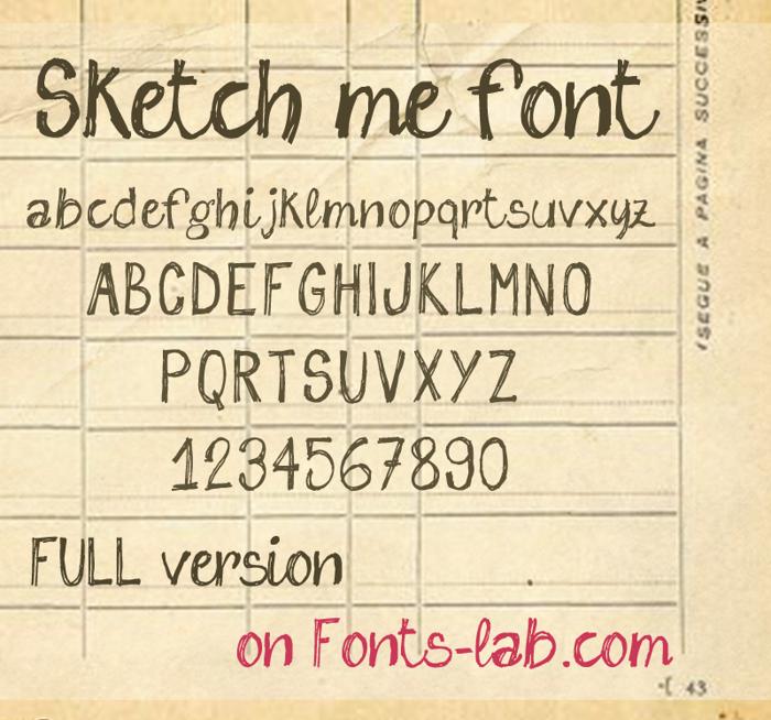 sketch me Font poster