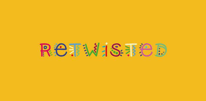 Retwisted Font poster