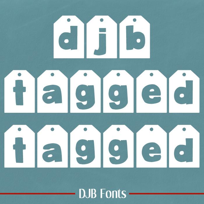 DJB TAGGED Font poster