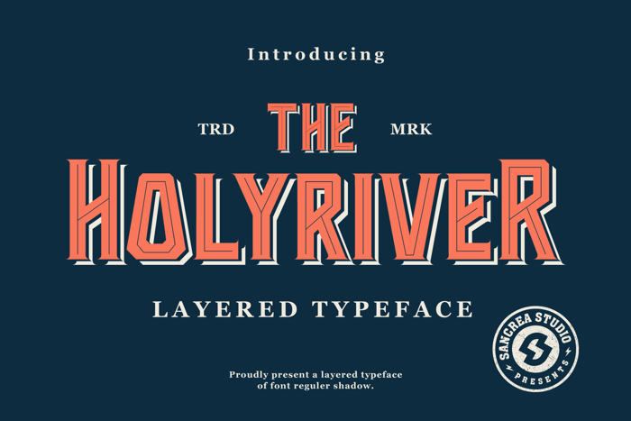 Holyriver Font poster