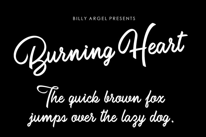 Burning Heart Font poster