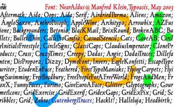 NearAldus Font poster