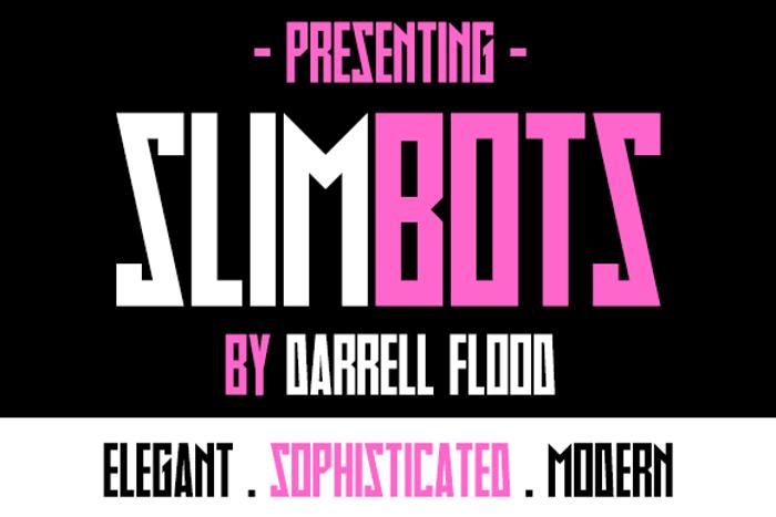 Slimbots Font poster